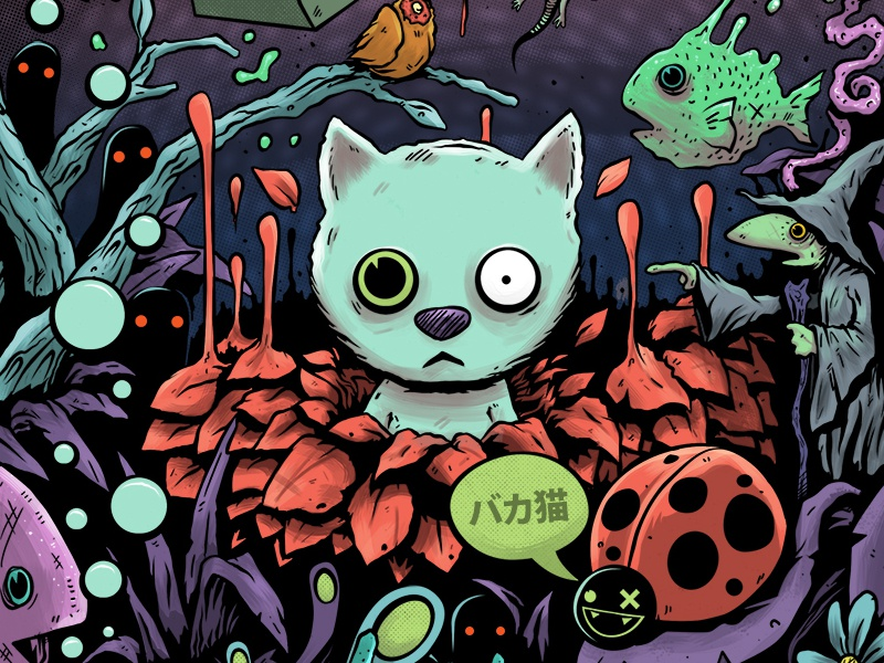 Catnip Cat Design drawing illustration cats wacom print catnip funny