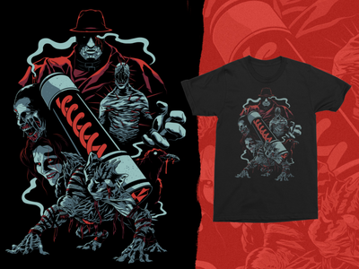 Tyrant Tee procreate illustraion apparel tshirt tees zombies resident evil