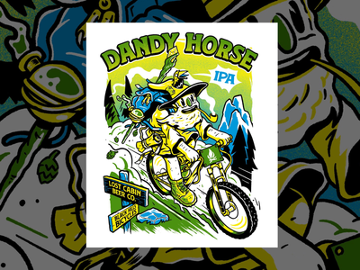 Dandy Horse IPA mountainboarding beer ipa artdirection illustration design drawing