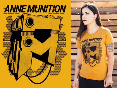 Anne Munition - 1 Shot Tee twitch streamer apparel merch 3d gamer annemunition clothing teedesign