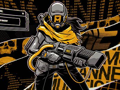 Anne Munition - Twitch Art graphicdesign illustration ascii glitch gamer characterdesign streamer annemunition twitch