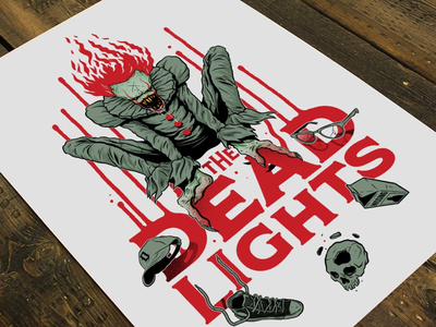 The Dead Lights drawing illustration prints design artprints clowns horror scary movies it pennywise