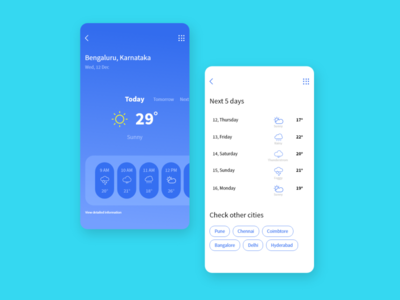 weather app design concept