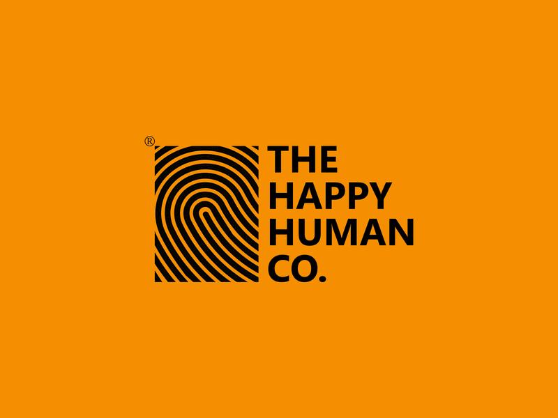 The Happy Human Co. homeware h logo human logo fingerprint happy human logo design creative designs branding logo ideas monogram logo logo branding font design lifestyle brand vector