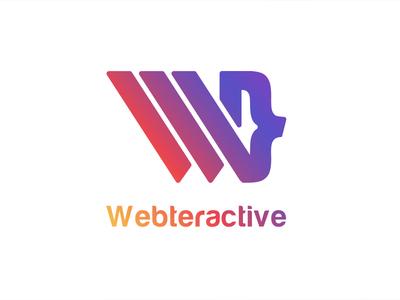 Webteractive logo w branding logo flat  design illustration monogram letter mark font design font creative designs logo ideas logo design branding logo branding logo design concept logo alphabet semi colon monogram logo logo monogram