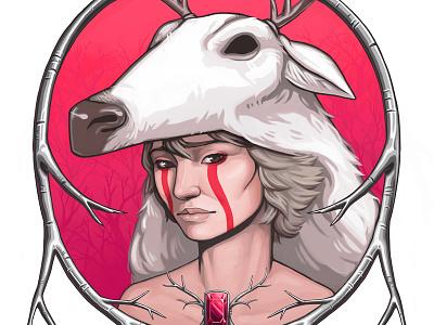 Totems:Deer Poster poster illustration deer hat frame