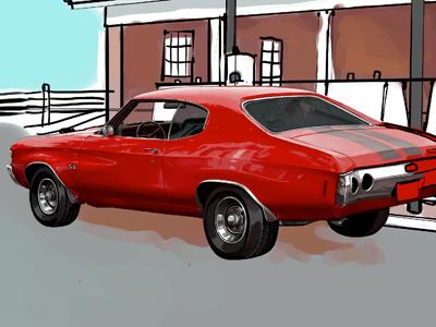 Car WIP II painter illustration car