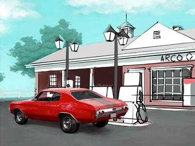 Car WIP III illustration car