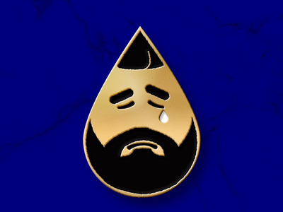 TEARY DRAKE design gold emotions music character pin drake enamel