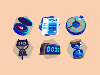 SQULA achievement badges 1 badge design icons elearning bobbypola branding vector illustration