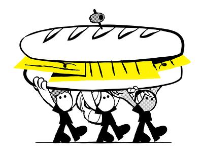Business lunch education dutchdesign design bobbypola vector character characterdesign illustration