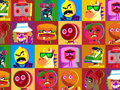 SQULA senior avatars avatars characterdesign education design bobbypola character vector illustration