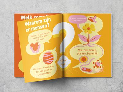Philosophy for children bobbypola education vector illustration