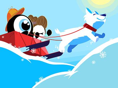 Cold summer environmentdesign characterdesign vector education illustration