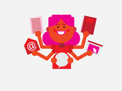 Pink lady character characterdesign graphic vector illustration