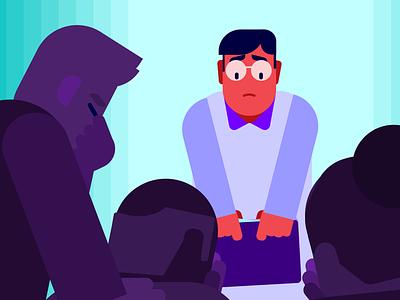 Bad news vector design character animation illustration