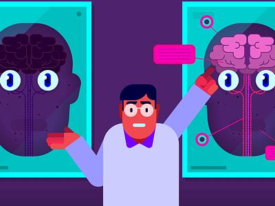 Explanation vector minimal illustration explainer design animation