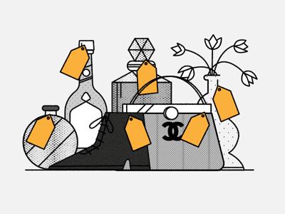 Bijenkorf-ani-luxuriousgifts.png illustrator fashion education vector design bobbypola illustration