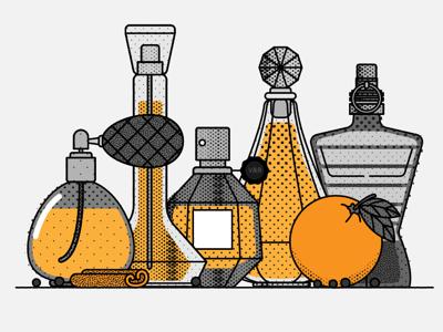 Bijenkorf-illu-perfumes.png branding lifestyle perfume fashion illustration bobbypola