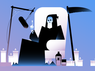 Spotify for Podcast grimreaper podcast spotify design illustration animation