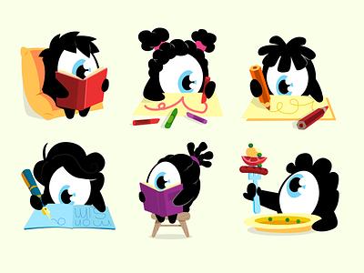 Little Q's vector characterdesign character illustration