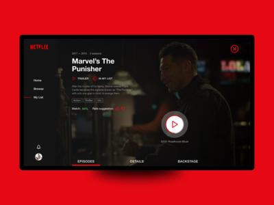 Netflix TV Show Page Concept