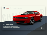 Dodge Challenger Lading Page Concept
