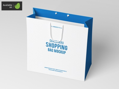 Medium Cardboard Shopping Bag Mock-Up medium shopping shop package pack mock-up mockup buy bags bag
