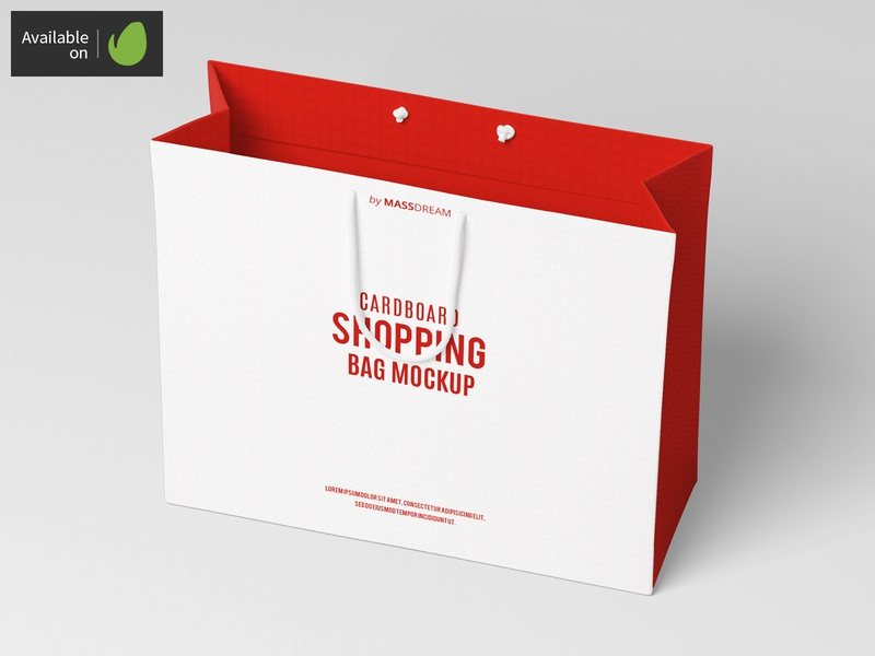Large Cardboard Shopping Bag Mock-Up large shopping shop package pack mock-up mockup buy bags bag