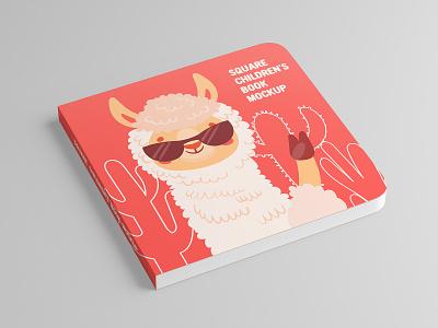 Square Children's Book Mock-Up sleeve paper mockups mock-up lid cup coffee cardboard cafe bean