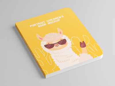 Portrait Children's Book Mock-Up paper pages page open objects mockups mockup mock up literature library knowledge kid hardcover hard-cover education design cover books book