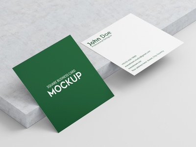 Square Business Card Mock-Up template stationary square smart showcase mock-ups mockup mock layered identity editable design customizable corporate clean card calling businesscard business box