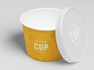 3oz Ice Cream Cup Mockup Set mock-up mockup lids ice-cream icecream ice hand frozen food dinnerware dessert design cup cream corporate container cold can bucket branding