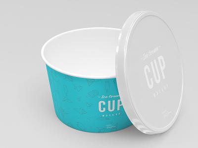8oz Ice Cream Cup Mockup Set washing shampoo plastic perfumery perfume oil mock-up mockup mock lotion liquid gel cream cosmetic cleaning clean chemical branding bottle beauty