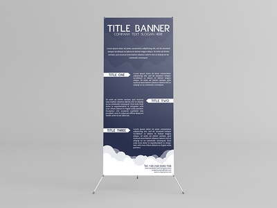 X-Banner Stand Mock-Up