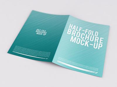 Bi-Fold Brochure Mock-Up  mock mockup invite invitation half card brochure booklet fold bifold