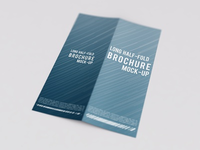 DL Bi-Fold Brochure Mock-Up  mock mockup invite invitation half card brochure booklet fold bifold dl