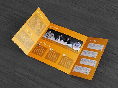 Gatefold Brochure Mock-Up 2  mock mockup gate folding fold single catalog brochure booklet accordian