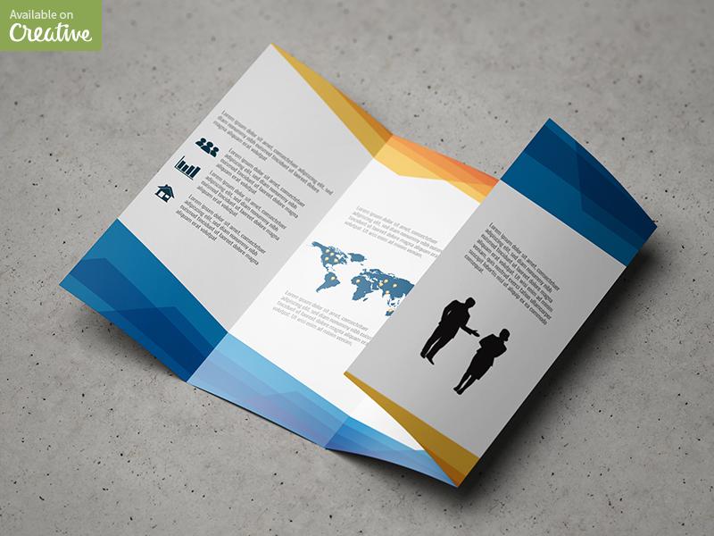 Double Gatefold Brochure Mock-Up by MassDream Studio