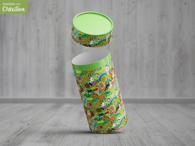 Tube / Can Packaging Mock-Up tube packaging package mock-up mockup mock jar cardboard can bank