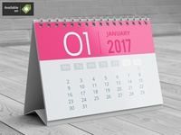 A5 Desk Calendar Mock-Up