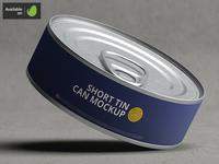 Short Tin Can Mock-Up