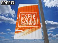 Rectangle Lamp Post Banner Mock-Up