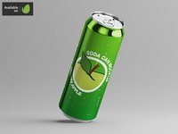 Long Soda Can Mock-Up