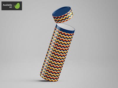 Long Tube / Can Packaging Mock-Up tube packaging package mock-up mockup mock jar cardboard can bank