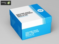 Square Shoe Box / Package Mock-Up