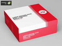 Large Square Shoe Box / Package Mock-Up