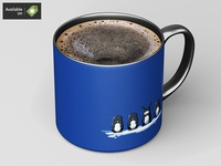 Small Ceramic Mug Mock-Up
