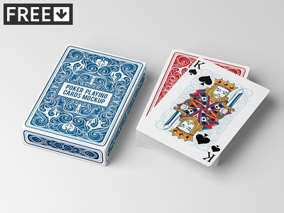 Poker Playing Cards Mock-Up poker playing play mock-up mockup joker club casino card blackjack