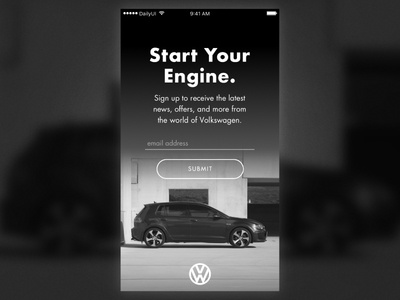 Daily UI #001 | Sign Up sketch email signup ui vw volkswagen signup sign up 001 dailyui001 dailyui daily ui